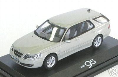 Saab 9.5 Sedan 2007 Light Green HONGWELL 1:43 HG46540